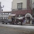 喜多方駅前の蔵馬車